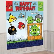 ANGRY BIRDS SCENE SETTER WALL DECORATING KIT (5pc) ~ Birthday Party Supplies
