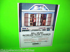 LASERSTAR CD-100 By ROWE AMI 1990s ORIGINAL JUKEBOX PHONOGRAPH SALES FLYER