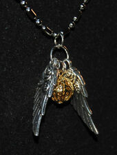 Harry Potter Inspired Golden Snitch Necklace,Quidditch Pendant,Weasley,Cup, 28""