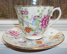 DUCHESS FINE BONE CHINA MADE IN ENGLAND CUP AND SAUCER CHINTZ FLORAL