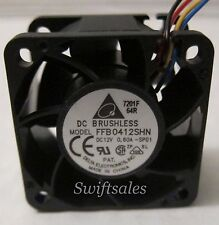 Delta FFB0412SHN-SP01 40mm 24CFM High Volume Fan 12VDC 4-Wire TACH PWM - New V#4