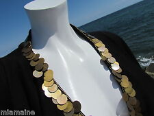 NEW XS REEM Acra top jacket black coins assymetrical sweater exotic sexy cruise