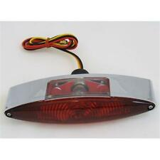 """Unique Chrome 6-1/2"""" Wide Cateye Taillight for Harley C01050314"""
