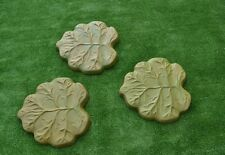 2 pcs Leafs Molds Stepping Stone Concrete Mould for garden path