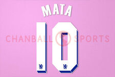 Mata #10 2011-2012 Chelsea UEFA Chaimpons League Homekit Nameset Printing