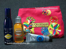 L'OCCITANE 3 Pc Travel Kit + Vanity Pouch From Rustan's *Brand New* Amande Oil