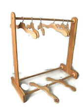 Handmade Wood Display Rack for American Girl Doll Clothes Dresses + 8 Hangers