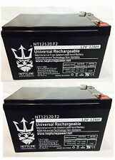 2 Pack - 12 Volt 12 Ah Pride Mobility SC52 Sonic Scooter Replacement Battery