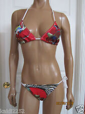 NWT CLOVER CANYON Floral Wallpaper Triangle Bikini Top Side Tie Bottom Set Sz. M