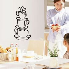 Coffee House Cup Removable Vinyl 3D Wall Sticker Home Kitchen Room Decals Decor&