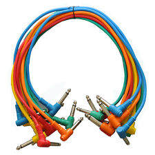 """SEISMIC AUDIO (10) 18"""" TS 1/4"""" Right Angle Patch Cables"""