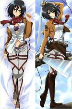 New 150x50CM Anime Attack on Titan Dakimakura Mikasa Ackerman Pillow Case Cover