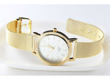 New Gold Classic Womens Quartz Stainless Steel Wrist Watch Lady style