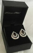 Brand New Gold Coast Platinum plated drop earrings gift boxed