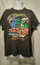 VTG Warner Bros 1993 Bugs Bunny Black T-Shirt Large USA Leather Jacket Classics