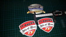 Isle Of Man Tt Razas Decal Sticker X2 Manés Moto Gp Racing Laptop Casco Bicicleta Auto