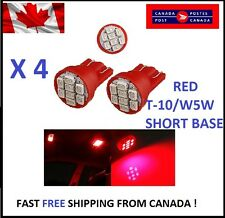 4X RED LED T10 8SMD/5050/194Bulbs Cluster Light 68 W5W license Plate Short Base