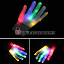 1 Paio Guanti Luminosi Luci a LED Gloves Per Partito Festivale Party Concerti