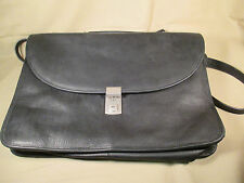 ASTON NEW YORK HIGH QUALITY GENUINE BLACK  LEATHER BRIEFCASE, LAPTOP, SCHOOL