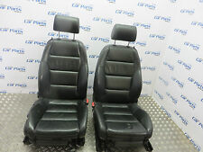 AUDI A4 B6 B7 CABRIOLET 02-09 MANUAL LEATHER SEATS IN BLACK