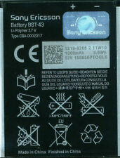 Genuine Sony Ericsson BST-43 1000mAh Battery for WT13i Yari U100i J10 J20 - Bulk