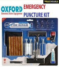 UNIVERSAL OXFORD DELUXE MOTORBIKE EMERGENCY PUNCTURE KIT TUBELESS TYRE REPAIR