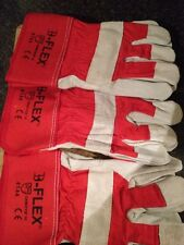Canadian Rigger Leather Builder Garden Work Gloves Heavy Duty Three Pairs