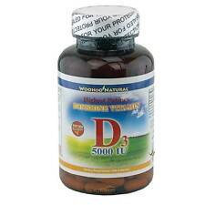 Maximum Strength Vitamin D (D-3) 5000 IU 200 Caps, High Potency, MADE IN USA