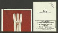 AUSTRALIA 1983 SCANLENS CRICKET STICKERS SERIES 2 - McDONALD'S CUP  (AUST) #139