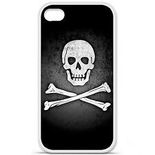 Coque housse étui tpu gel motif drapeau Pirate Iphone 4 / 4S