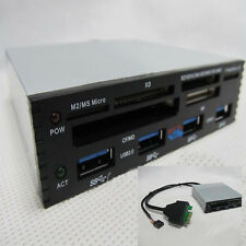 HH3 Front Panel PCI-E To USB 3.0 4 Port Hub Combo+2.0 CF XD Card Reader 4 Port