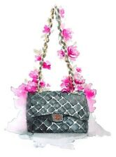 CHANEL WATERCOLOUR FLOWER BAG  ART IMAGE A4 Poster Gloss Print Laminated