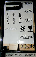STAMPIN UP ALL ABOUT U 12 RUBBER STAMPS YOU THANK HAPPY BLESS
