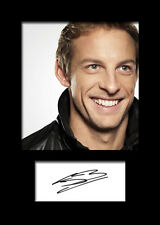 JENSON BUTTON #2 Signed Photo Print A5 Mounted Photo Print - FREE DELIVERY