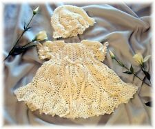 "037 ""MOLLY""  Baby Dress & Hat Crochet Pattern by ---REBECCA LEIGH----6M and 12M"