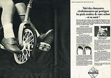 PUBLICITE ADVERTISING 034   1965   TINTIN   chaussures enfants ( 2 pages)