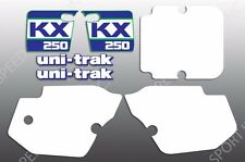 KAWASAKI 1988 KX250 KX 250 KIT SHROUDS SIDES SWING ARM DECALS GRAPHICS LIKE NOS