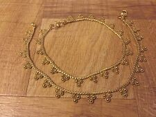 Feminine Jewelry Gold Plated Ankle Bracelet Indian Payal Pajeb Anklet