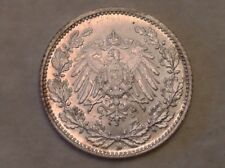 - 1916 D Imperial Germany Half 1/2 Mark Silver Kaiser Wilhelm I Uncirculated