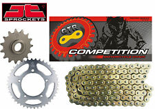 Yamaha TDR125 3XD 89-92 Gold Heavy Duty Chain and Sprocket Kit Set