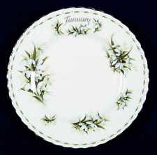 Royal Albert FLOWER OF THE MONTH (MONTROSE) January Salad Plate 6724567