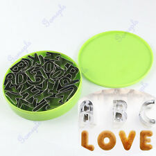 Stainless Steel Silver 26 Letter Alphabet Fondant Cookie Cake Mold Mould Cutter