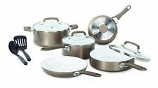 WearEver Pure Living Nonstick Ceramic Coating Cookware Set Gold NEW Skillet Pan