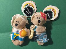 Beach Summer Holiday Boy & Girl Starbucks Coffee Bearista Small Bear Magnets