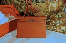 NEW100% AUTH HERMES BAG SAC KELLY  II RETOURNE 35 BRIQUE/VEAU EPSOM PALLADIUM