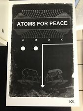 "Atoms for Peace 17""x26"" band poster print"