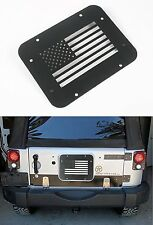 Opar Black Steel USA Flag Tailgate Vent-Plate Cover For Jeep Wrangler JK 07-17
