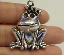 large frog charm pendant tibetan silver antique style wholesale craft