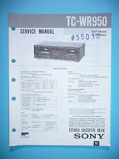 Service Manual instructions for Sony TC-WR950 ,ORIGINAL