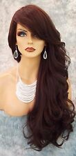"""28"""" WAVY LONG THICK HEAT FRIENDLY WIG COLOR #4 BROWN GORGEOUS SEXY USA 1030"""
